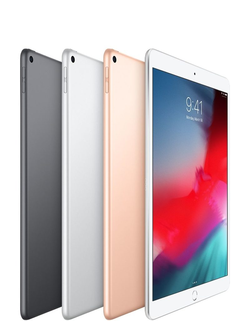 iPad Air brings more of our most powerful technologies to  more people than ever. The A12 Bionic chip with Neural Engine.  A 10.5‑inch Retina display with True Tone. Support for Apple Pencil